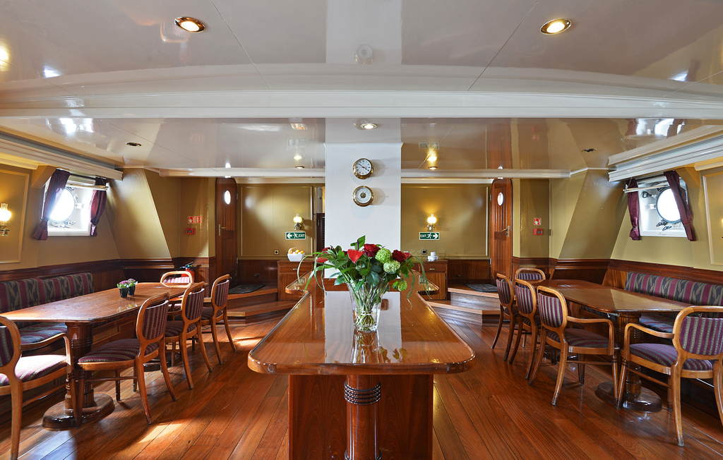 The buffet on sailing vessel Atlantis