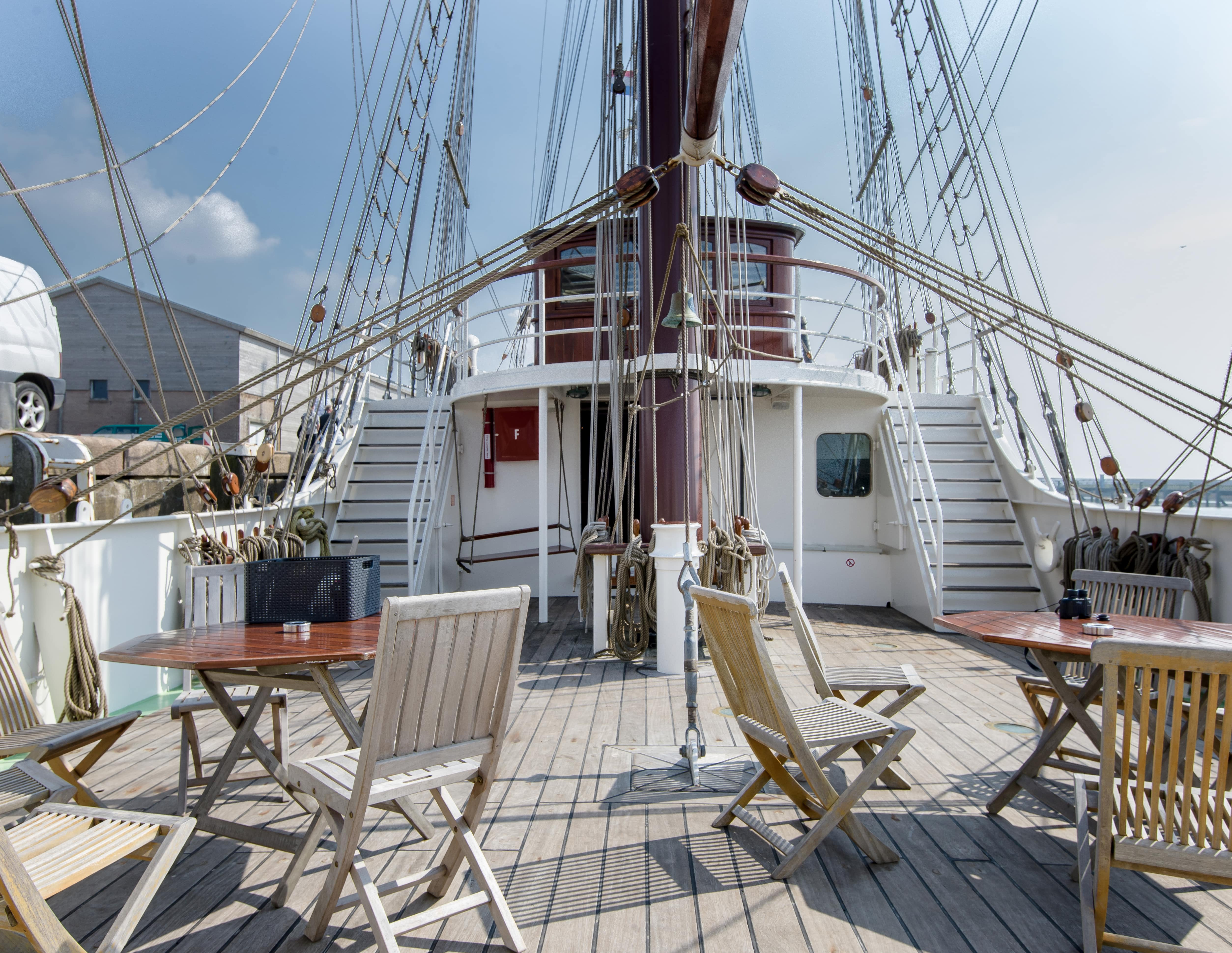 The maindeck of Tall Ship Artemis